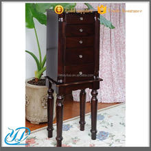 YL-B2047 Best Price Chinese Antique MDF Floor Standing Jewelry Cabinet