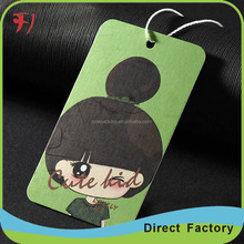 cheap recycle copy paper polo brand main/neck hang tags for Garment