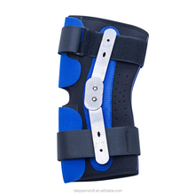 Adjustable blue neoprene hinged adjustable knee brace and support