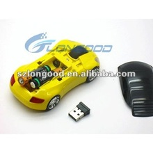 New Car USB 2.4G 1600dpi race car computer mouse