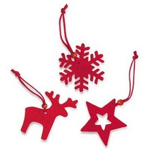 2015 fashion felt fabric hanging accessory christmas ornament