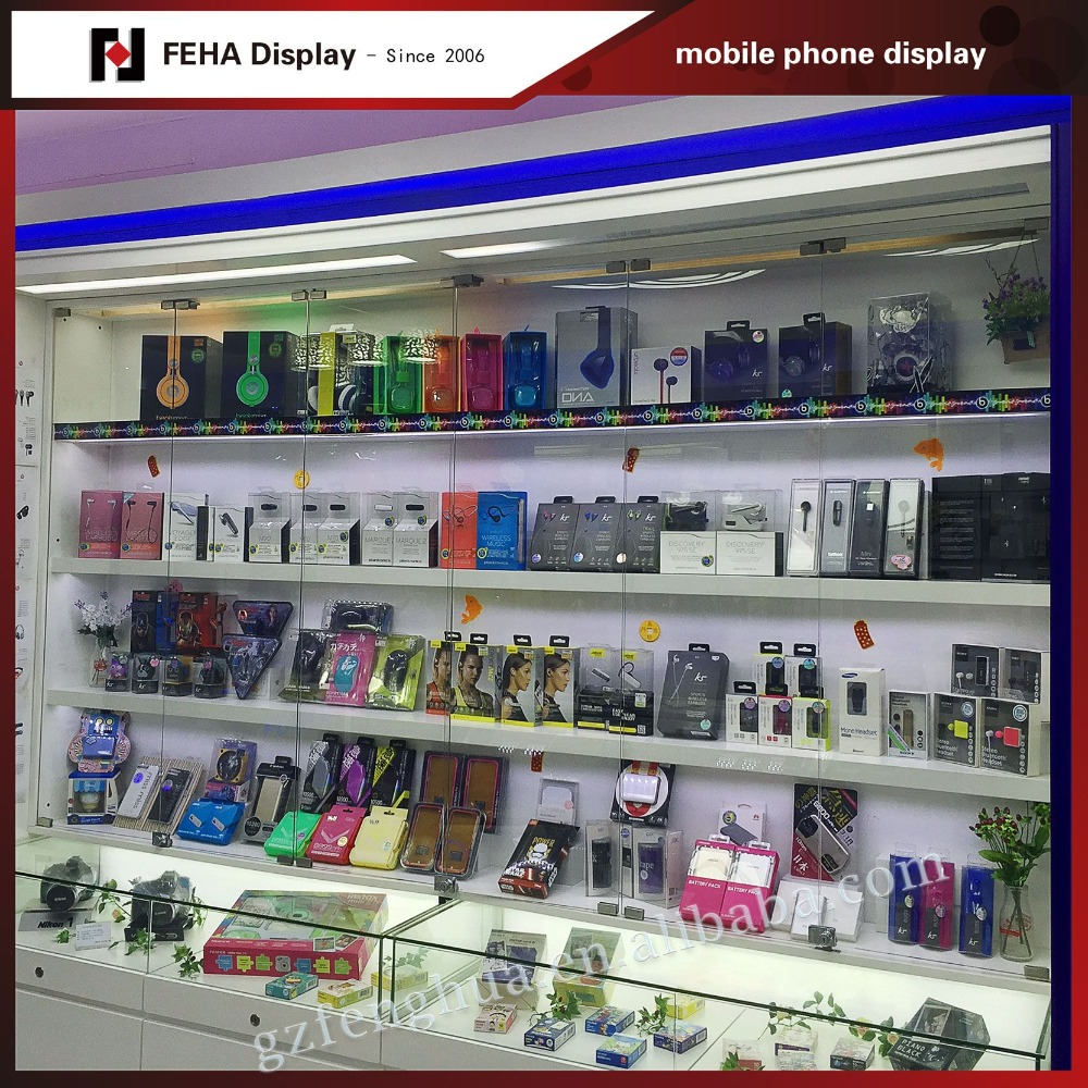 accessory display shelf/mobile phone charger display stand