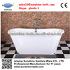 Freestanding two person antique cast iron bathtub