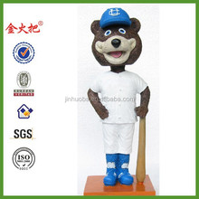 Polyresin baseball mascot figurine bobble head