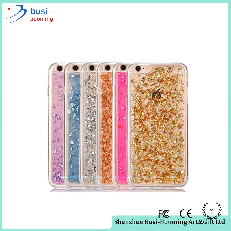 Bulk Items Cheap Ultra Slim Skin Clear Soft Silicone Gold Foil Bling Paillette Sequin Phone Case For iphone 6s 7 Free Sample