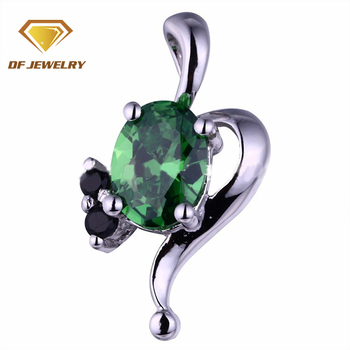 Wholesale Jewelry Emerald Pendant Fashion Silver Gemstone Pendant
