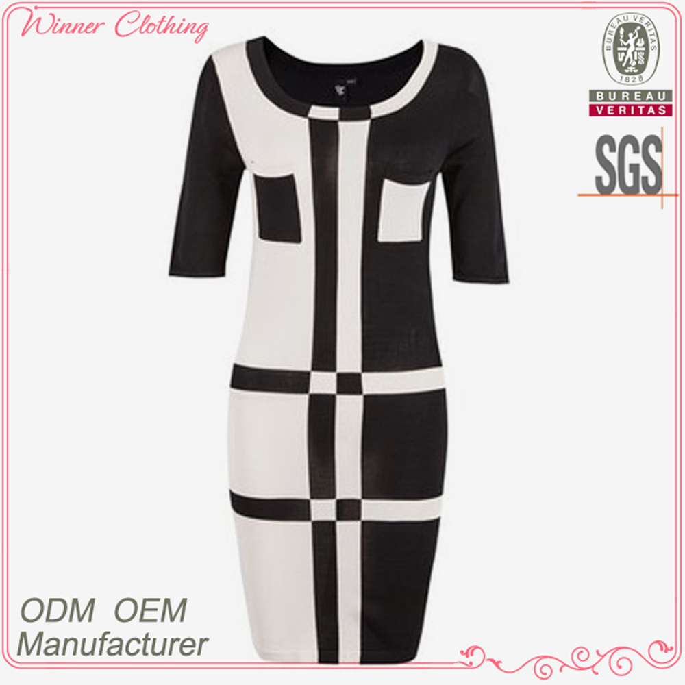 High fashion new designs good quality best price sexy ladies half sleeve garden party dress formal