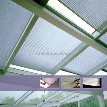 European style honeycomb blind motorized skylight pleated for Motorized blinds for skylights