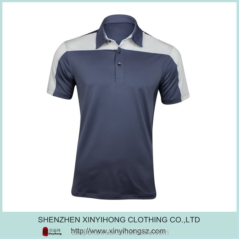 90% polyester+10% spandex blended material mens slim fit cut Dry fit fabric golf polo shirts