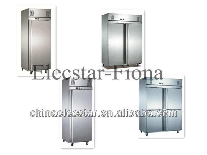 Reach in Cooler, GN series, stainless steel kitchen refrigerator, restaurant reffigerator