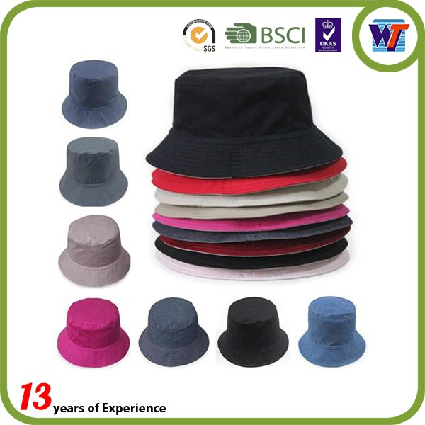 Colorful Cotton Pure Hunting Cheap Women Men Summer Bucket Hats Wholesale