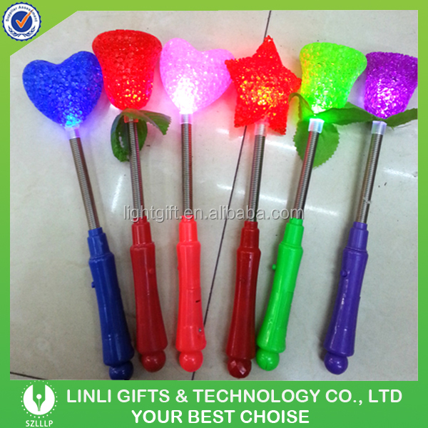 Festival Gifts Beautiful Plastic Artificial Colorful Light Up Flowers