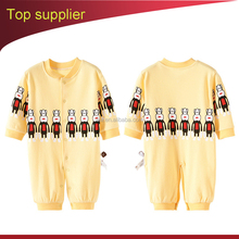 Monkey designs long cotton baby rompers winter warm cute baby rompers