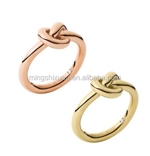 MSX-186L Jewelry Stainless steel high Polished rings diy cuff knot rings custom rings with tag