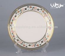 electroplating porcelain dinner plate FD-8612