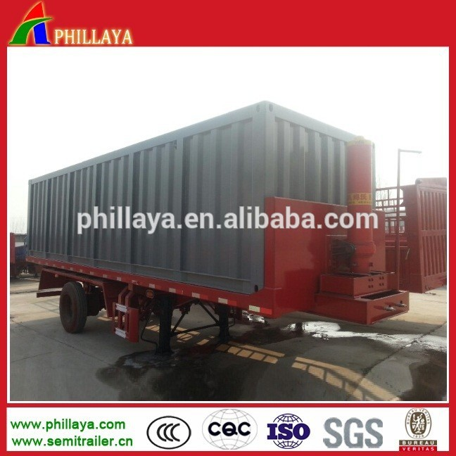 Flatbed Dump Semi Trailer/20FT 40FT Container Lift Semi-Trailer