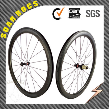 700C carbon bicycle wheels 45mm clincher wheels U shape 25mm width dimple surface road bike wheels