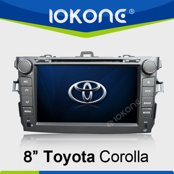 8 Inch HD Touch Screen 2 din car dvd built-in gps /bluetooth/ am/fm radio/tv for toyota Corolla