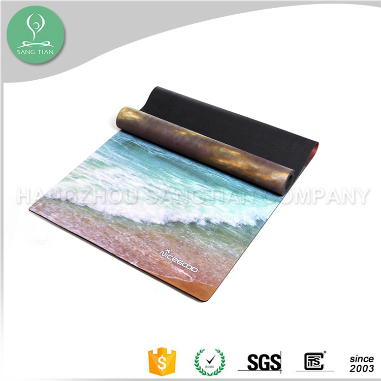 OEM factory exercise fitness custom color recycled rubber yoga mat/table mat