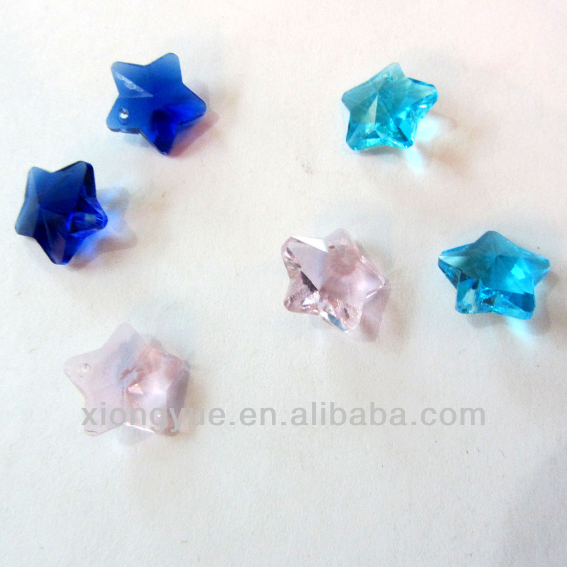 Multi color Crystal Glass star shaped Bead For Jewelry Decoration