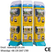Guangzhou Factory Coin Operated Gumball Capsules Toy Vending Machine