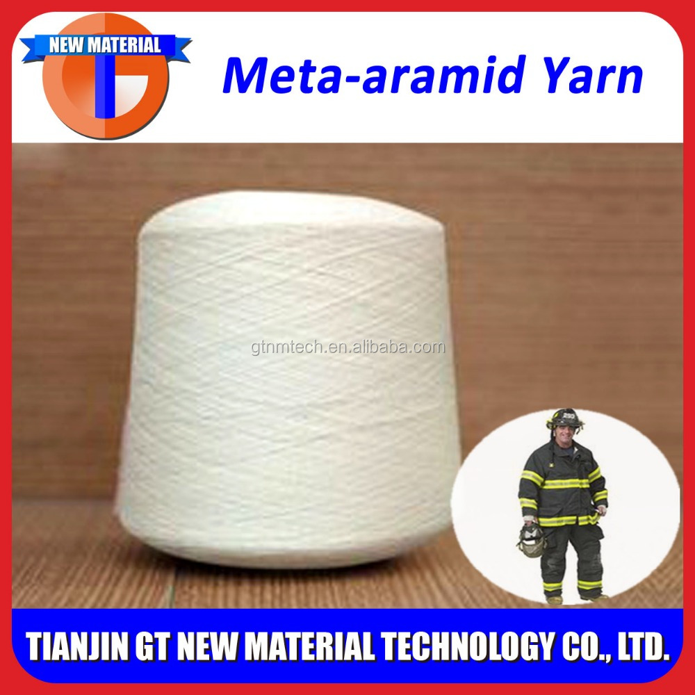 100% original meta aramid yarn for flame retardant sewing thread & protective clothing