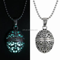 2016 Glow In The Dark Copper Pentagram Hollow Box Cage Fashion Necklace
