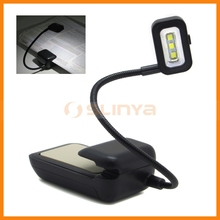 Flexible Adjustable Neck Three Led Clip On Reading Lamp For Kindle eBook Readers