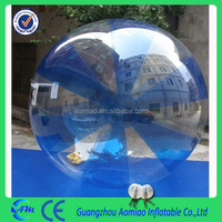 Best sale half blue inflatable climb in ball, PVC/TPU material 2m/2.5m/3m water walking ball