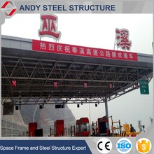 Factory direct supply metal space frame roof for toll station