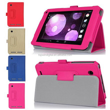 Luxury Vertical Stripe Leather Flip Cover Case For HP Slate 7 Plus 4200 Holder Function