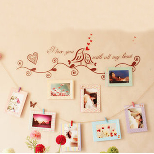 Paper Photo Frames For Pictures Vintage Frame Photo DIY Festival Hanging Rope Wall Home Decor