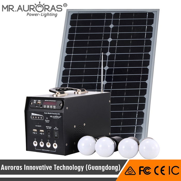 Lighting+MP3+Radio solar energy powered iron solar energy system kits