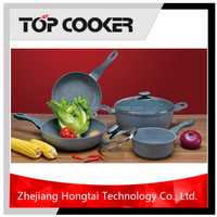 Forged Aluminium Grantie Marble Coating Cookware Set