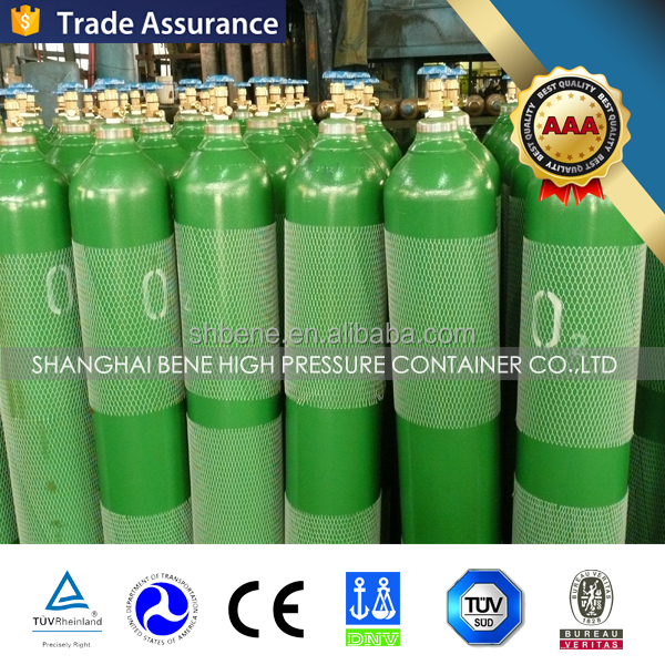 Hot Sale! 50L TPED/CE/DOT/TC/ISO/BS/EN Certificate High Pressure Industrial Steel Oxygen Cylinder