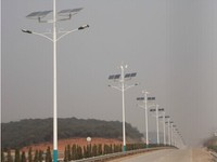 solar power system wind hybrid street light 90w