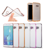 fashionable mobile phone electroplate TPU protector case for SAMSUNG Galaxy S7