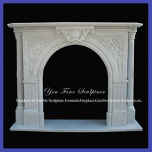 Decorative Indoor Victorian Marble Fireplace