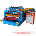 south africa double deck aluminum profile roofing sheet roll forming machine