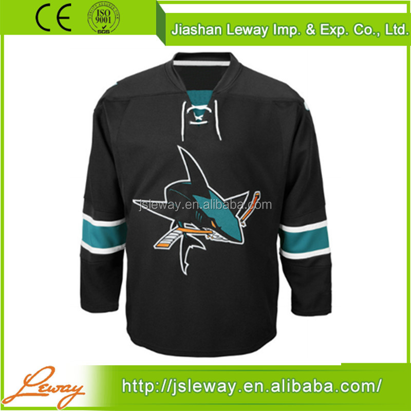 Red and black customize blank san jose sharks ice hockey jerseys