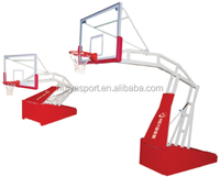 Hebei huiya high quality Electric hydraulic basketball stand hoop/stand system