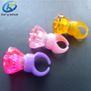 Concert party plastic blinking crystal diamond shape led finger rings