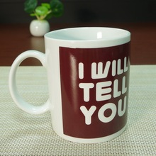I love you brown color changing white porcelain mug tea coffee solo cup