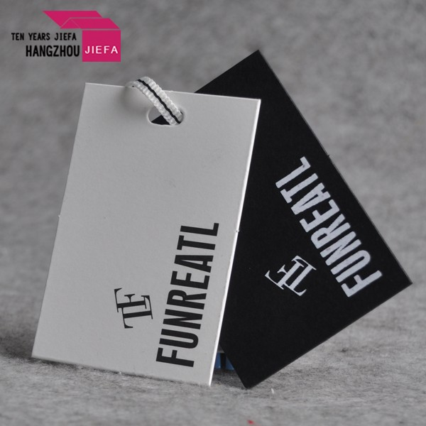 High quality manufacture custom clothing paper hang tag for clothing