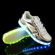 2016 New Style usb charge adult led Shoes Women And Man LED Light Shoes lace up shoes low top & high top