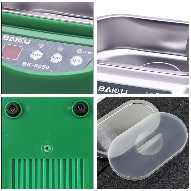 BAKU Display Cleaning Machine Washing Machine 0.8L Ultrasonic Cleaner BK-9050 Ultrasonic Cleaner Used For Mobile Phone