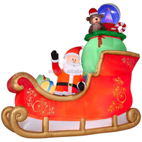 Hot Sale christmas decoration outdoor santa in sleigh