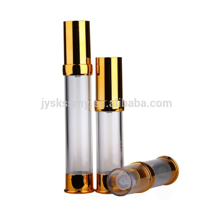 Different size airless plastic bottle with pump dispenser
