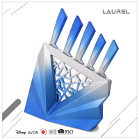 Delicate blue sharp wear-resistant 3-dimensional stainless steel kitchen knife fruit