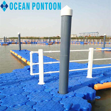Good quality easy float pontoon floating dock with railing
